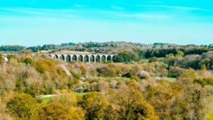 Pontcysylite aqueduct in Wrexham county