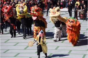 美国加州洛杉矶的华人佛教圣地——佛光山西来寺2月16日举办丰富多彩的活动,欢度新春佳节