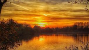 Sunset at Thrupp Lake, near Abingdon