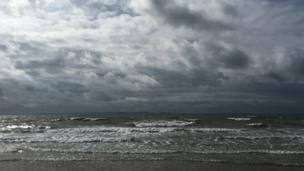 Deganwy beach, in Conwy,