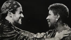 George Michael and Aretha Franklin