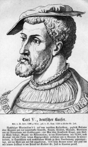 Carlos I de España, en un grabado