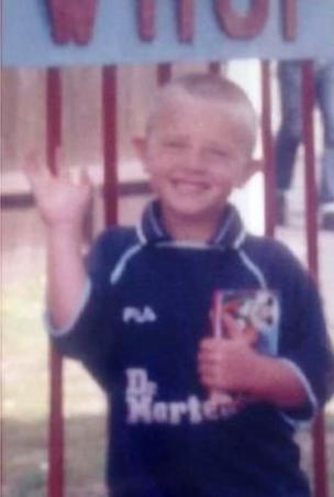 Jake Russell in West Ham kit