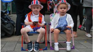 Leland and Olivia at the Belfast Twelfth parade