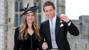 Eddie Redmayne with wife Hannah Bagshawe