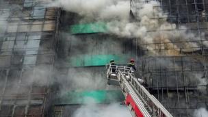 Vụ cháy xảy ra tại quán karaoke nằm trên đường Trần Thái Tông, Hà Nội.