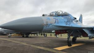 Але безперечною зіркою показу був Су-27