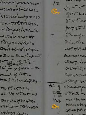 Reprodução de página de um diário de Anne Lister