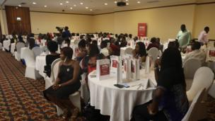 Cross section of pipo wey show for di awards ceremony
