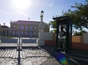 """القصر الرئاسي في مدينة """"برايا"""" بالرأس الأخضر."""