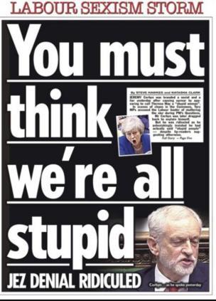 2018年12月20日英國《太陽報》頭版