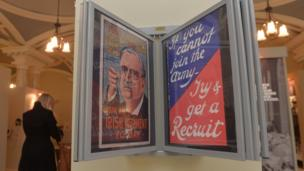 A selection of recruitment posters form past of the exhibition