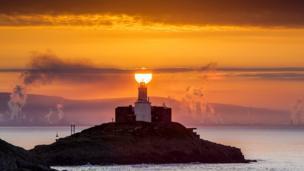 Sunrise at Mumbles, Swansea