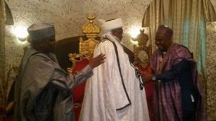 Sokoto State Aminu Waziri Tambuwal with Sultan Abubakar Saad III and Rivers Governor Nelson Wike
