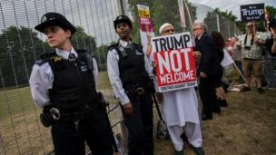 Trump, Amerika Serikat, Inggris