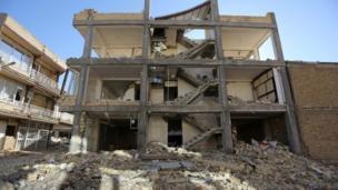 A building in Sarpol-e Zahab county in Kermanshah
