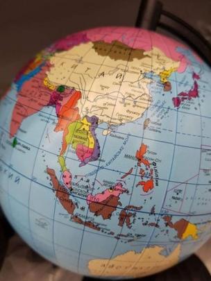Quả địa cầu bán ở Ukraine được cho là in sai bản đồ Việt Nam