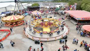 Fairground rides and amusements at the Balmoral Show