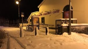 The effects of the snow can be seen in this image in Newtownhamilton, County Armagh