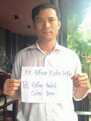 Thầy giáo Nguyễn Năng Tĩnh từng tham gia các hoạt động ủng hộ người bất đồng chính kiến