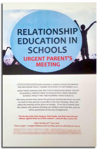 Leaflet aimed at parents