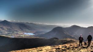 Mel Garside was feeling festive on this walk at Mynydd Mawr, Snowdonia