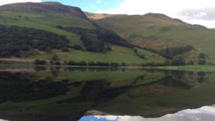 Mirror image: Lynn Hughes captured the reflection on Talyllyn lake, Gwynedd, for our Pic of the Day