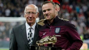 HIGH: In September 2015, Wayne breaks Bobby Charlton's England scoring record with his 50th goal in a match against Switzerland.