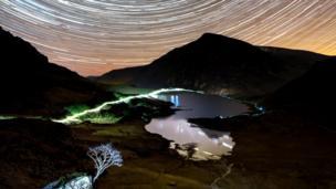 Cwm Idwal at night