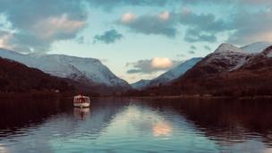 A boat on Llyn Padarn in Snowdonia