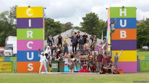 In a brand new venue dedicated to circus performance, Circus Hub on the Meadows, two semi-circular big tops staged a diverse, spectacular and technically ambitious collection of performances from 11 separate international acts or troupes.