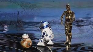 BB-8, R2-D2 and C-3PO