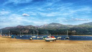 Barmouth beach, Gwynedd