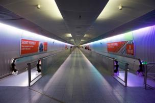 Tunnel at Frankfurt Airport
