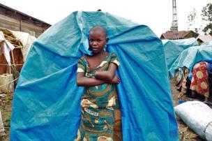 Mave Grâce 11 ans est une rescapée des massacres de Djugu, elle a perdu sa main lors d'une attaque des assaillants armés de machette dans son village.