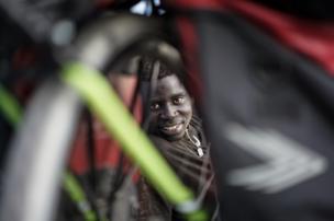 A bike lover in Dakar, hune 2017
