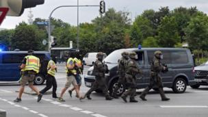 Policía en Múnich