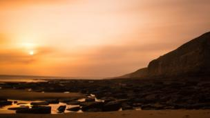 Sunset over Southerndown in the Vale of Glamorgan taken by Matt Morris