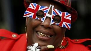 Royal fan in Windsor to greet the Queen