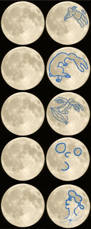 Pareidolias en la Luna