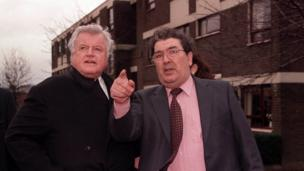 in_pictures Senator Edward Kennedy with John Hume during a visit to the Bogside in Londonderry in 1998