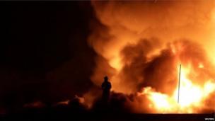 म्यूजियम की इमारत में लगी आग की लपटें दूर तक देखी जा सकती थीं, रियो डि जेनेरियो शहर में इसकी वजह से धुंआ ही धुंआ फैल गया था.