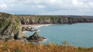 Lindsway Bay, near St Ishmaels, Pembrokeshire.