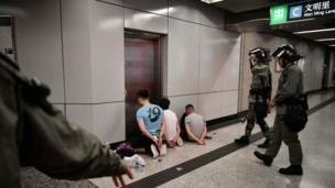 Manifestantes detenidos