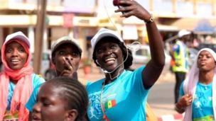 Le Marathon de Dakar, au Sénégal, un moment de sport et de détente, visiblement !