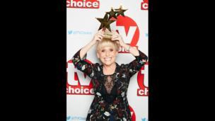 Dame Barbara Windsor at the TV Choice awards