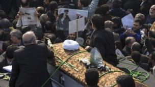 ہاشمی اکبر رفسنجانی کی تدفین
