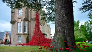 Weeping Window exhibition at Black Watch Museum, Perth