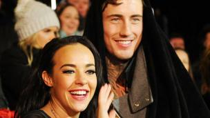 Stephanie Davis and Jeremy McConnell at the final of Celebrity Big Brother