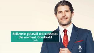 """""""Believe in yourself and celebrate the moment. Good luck!"""""""